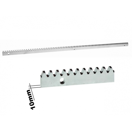 Listwa zebata metalowa 10 mm L1000 mm